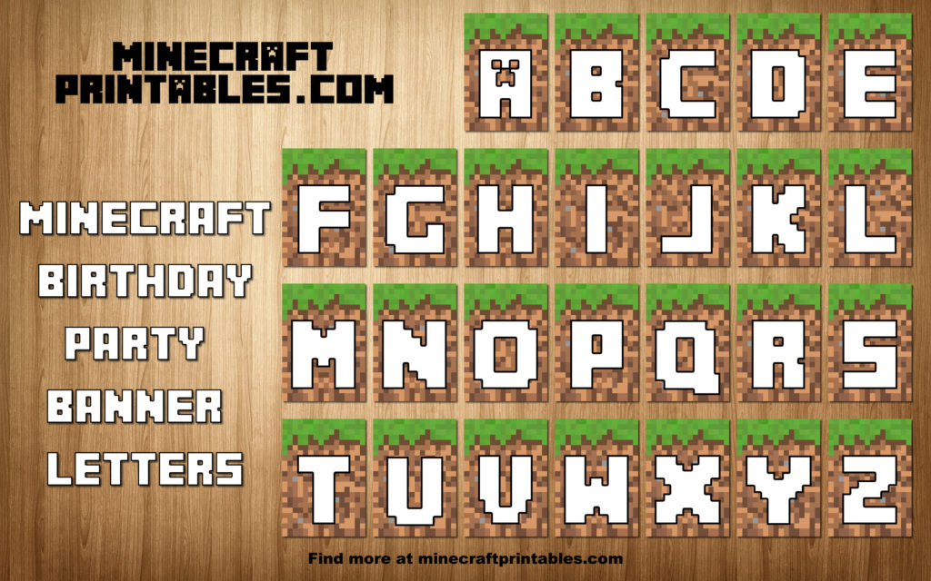 Declarative image throughout free printable minecraft letters