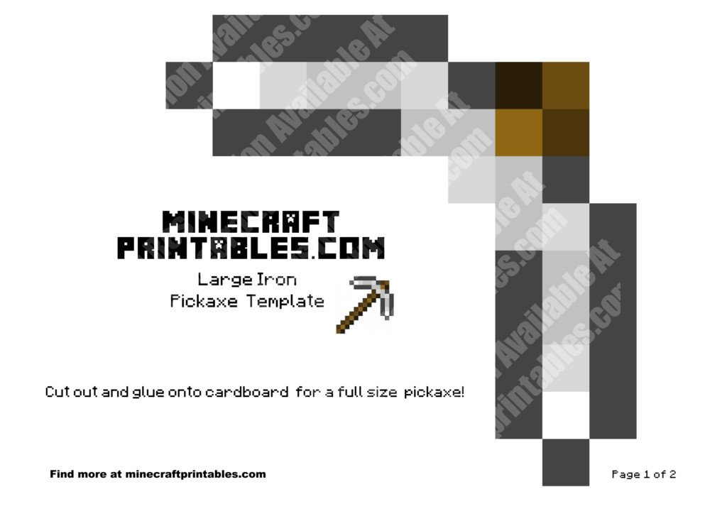 minecraft-printable-papercraft-iron-pickaxe_large_1