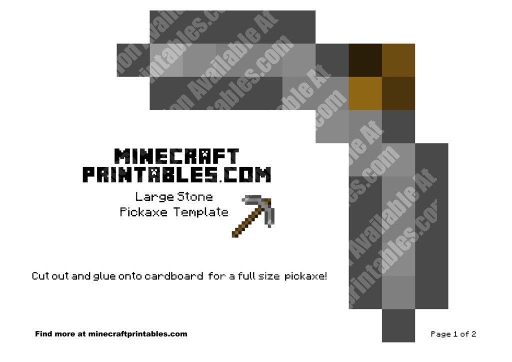 minecraft-printable-papercraft-stone-pickaxe_large_1