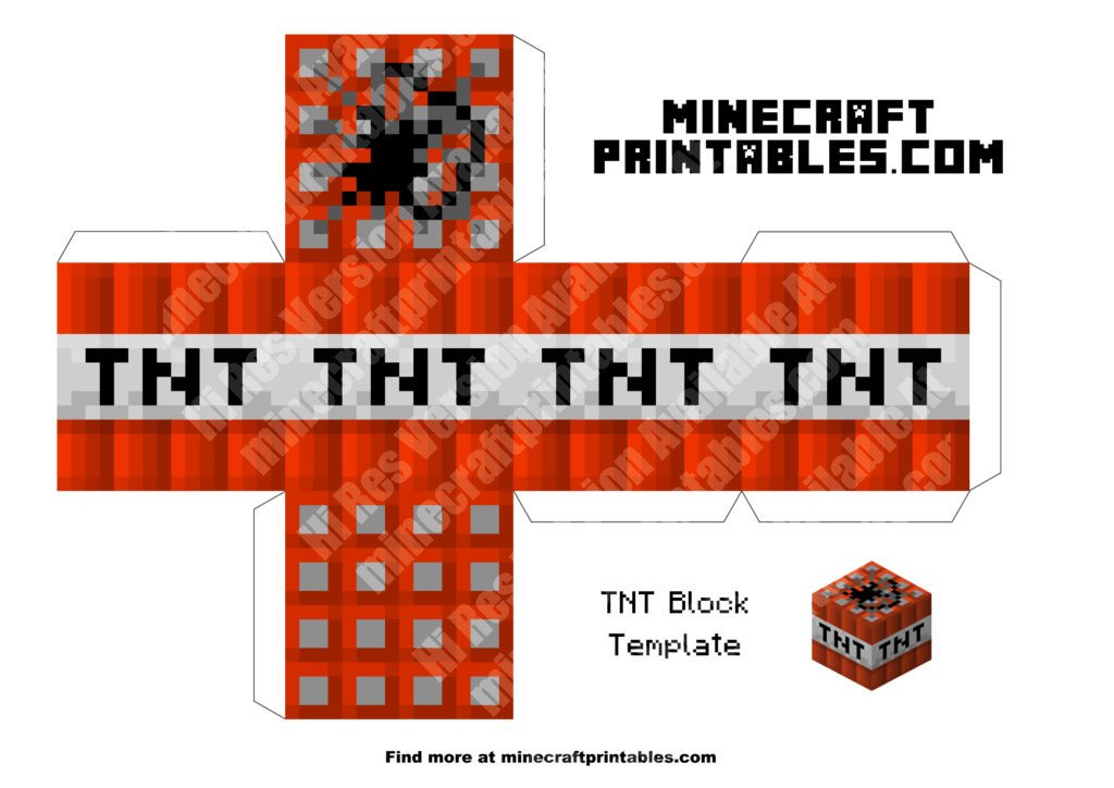 It is a picture of Simplicity Minecraft Tnt Printable