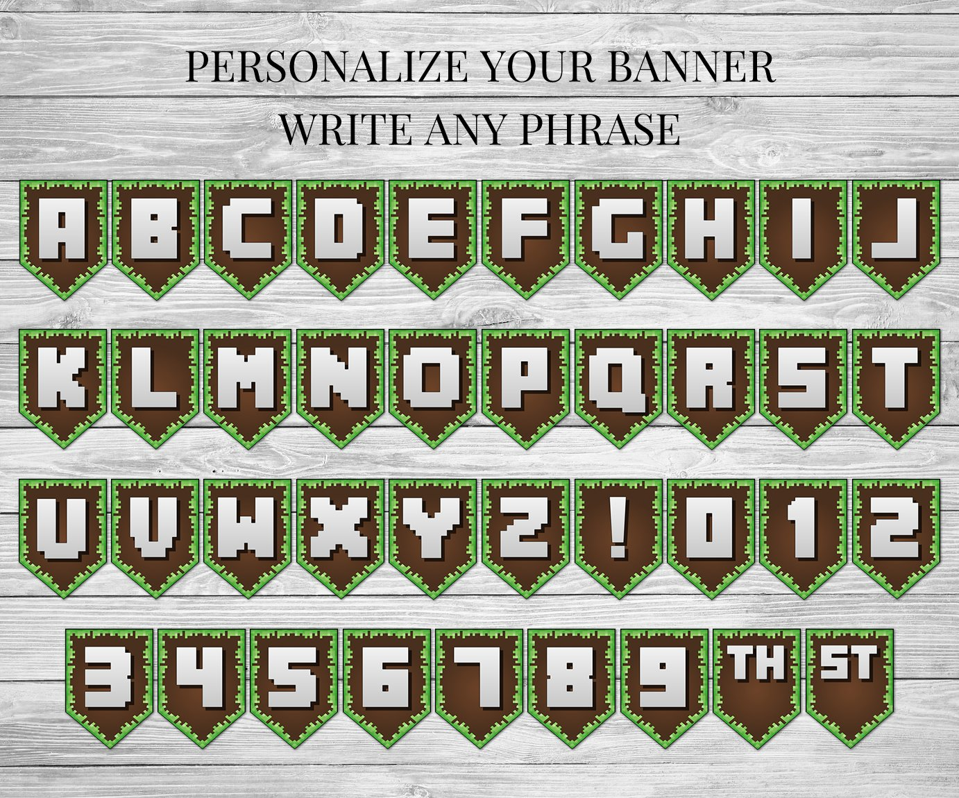 Universal image for free printable minecraft letters