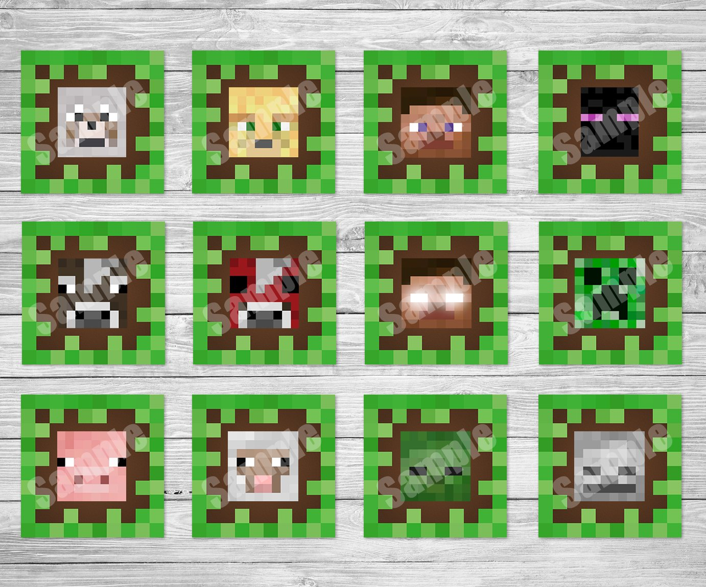 Decisive image regarding printable minecraft cupcake toppers