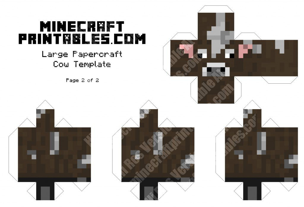 It is an image of Handy Minecraft Printables Papercraft