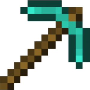 Diamond Pickaxe - Printable Minecraft Diamond Pickaxe ...