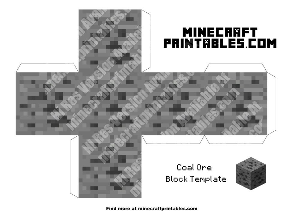 minecraft-printable-papercraft-coal-ore_large