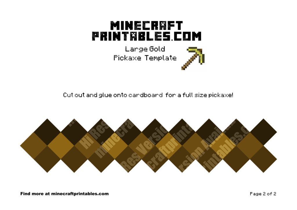 minecraft-printable-papercraft-gold-pickaxe_large_2