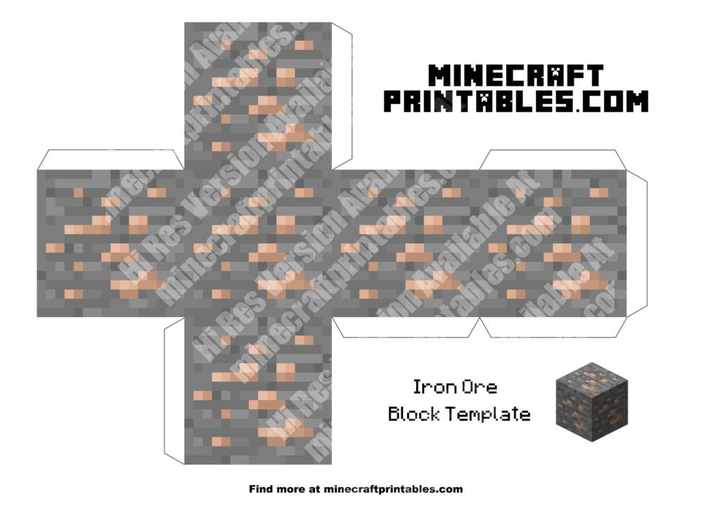 minecraft-printable-papercraft-iron-ore_large