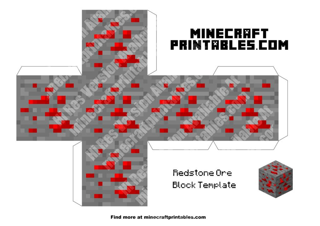 minecraft-printable-papercraft-redstone-ore_large