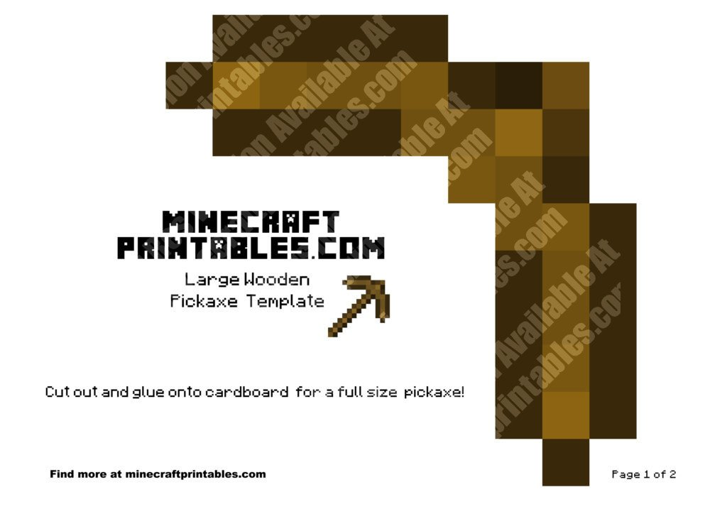 minecraft-printable-papercraft-wooden-pickaxe_large_1