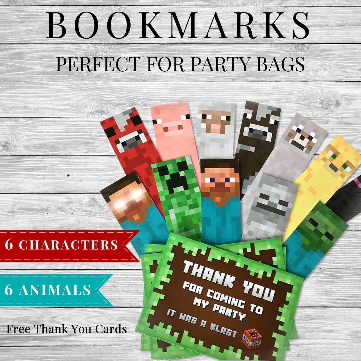 image regarding Printable Minecraft identified as Printable Minecraft Bookmarks and Thank Oneself Playing cards