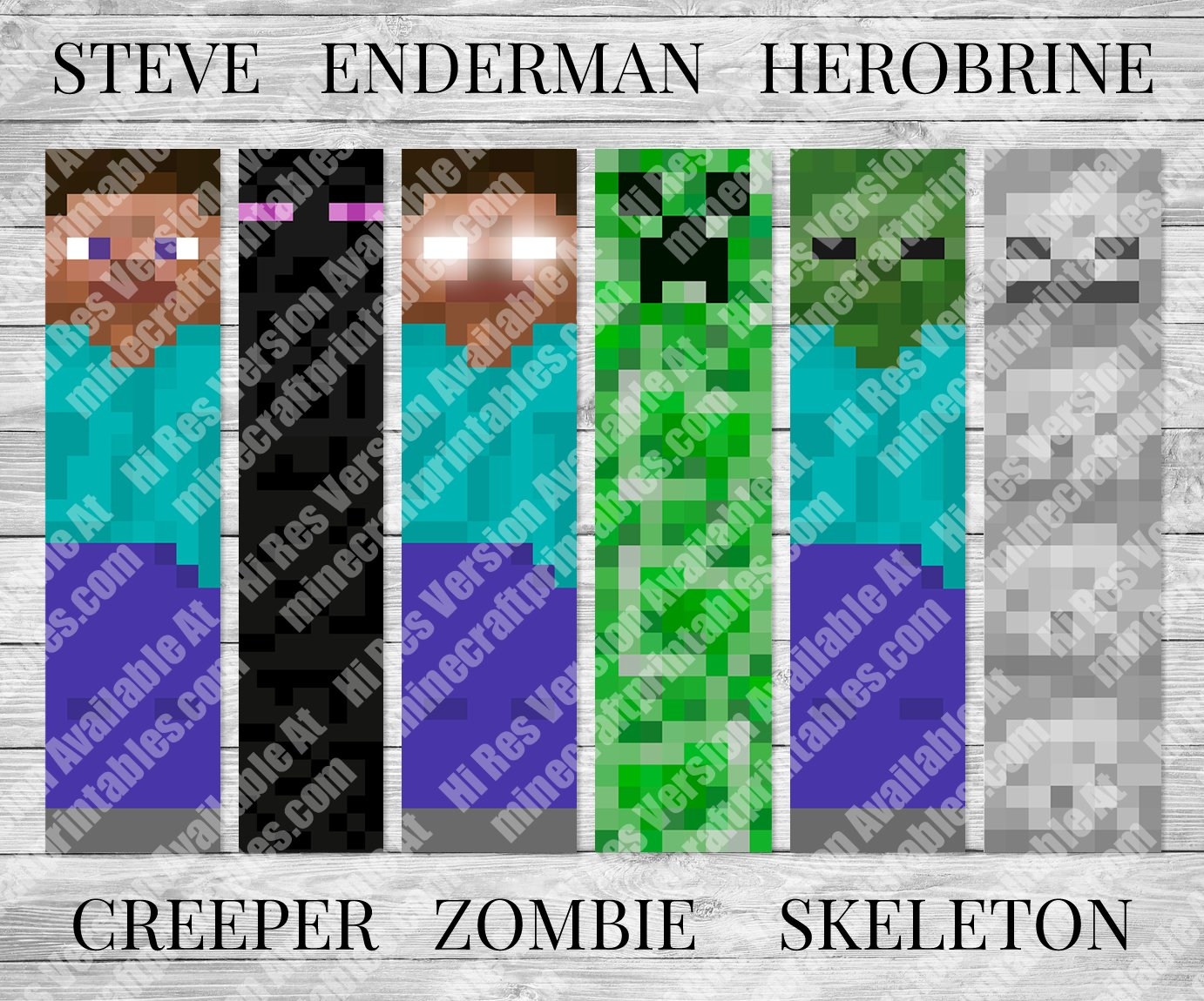 It's just a picture of Refreshing Minecraft Bookmarks Printable
