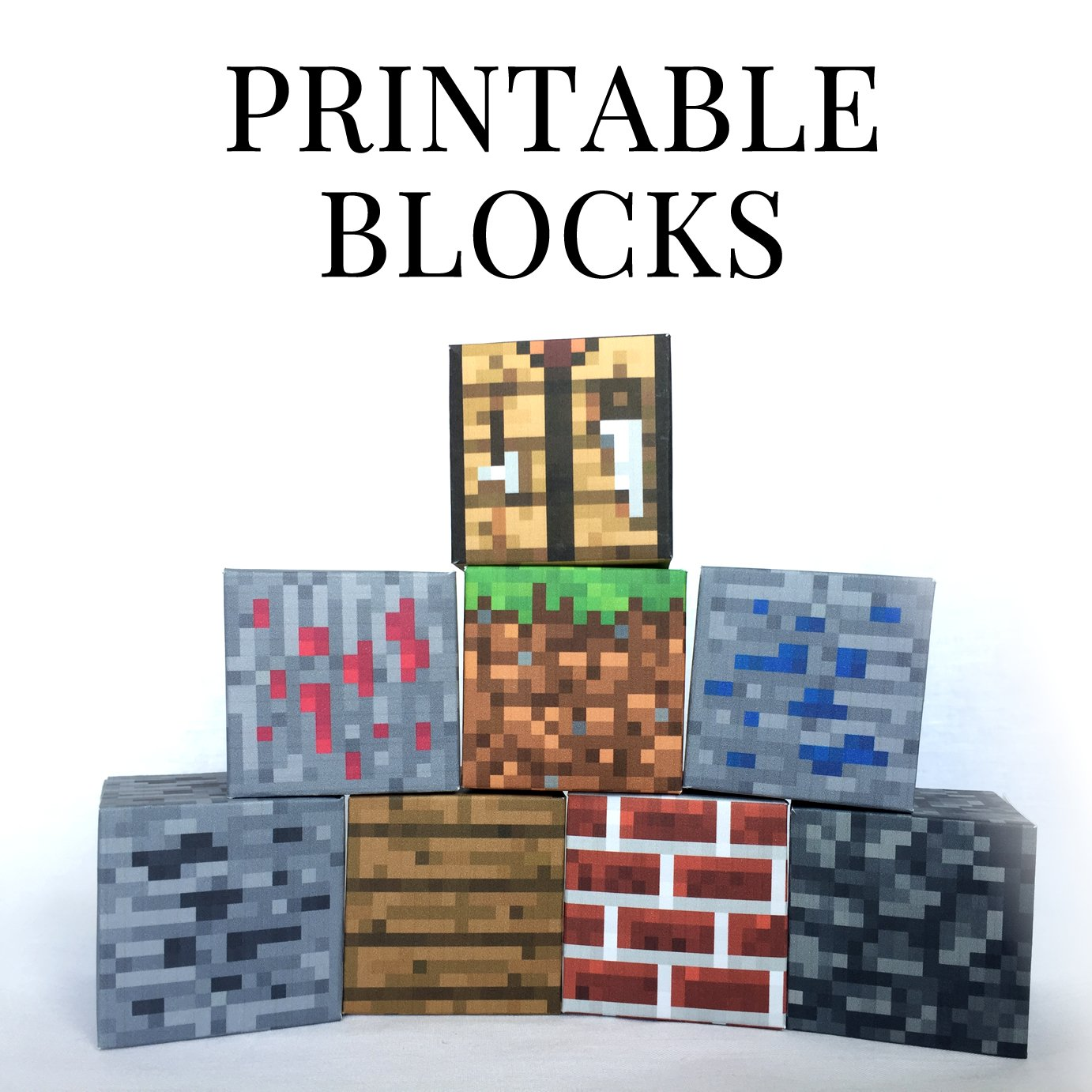 photograph relating to Minecraft Printable Blocks named Fixed 3 - Minecraft Printable Papercraft Blocks