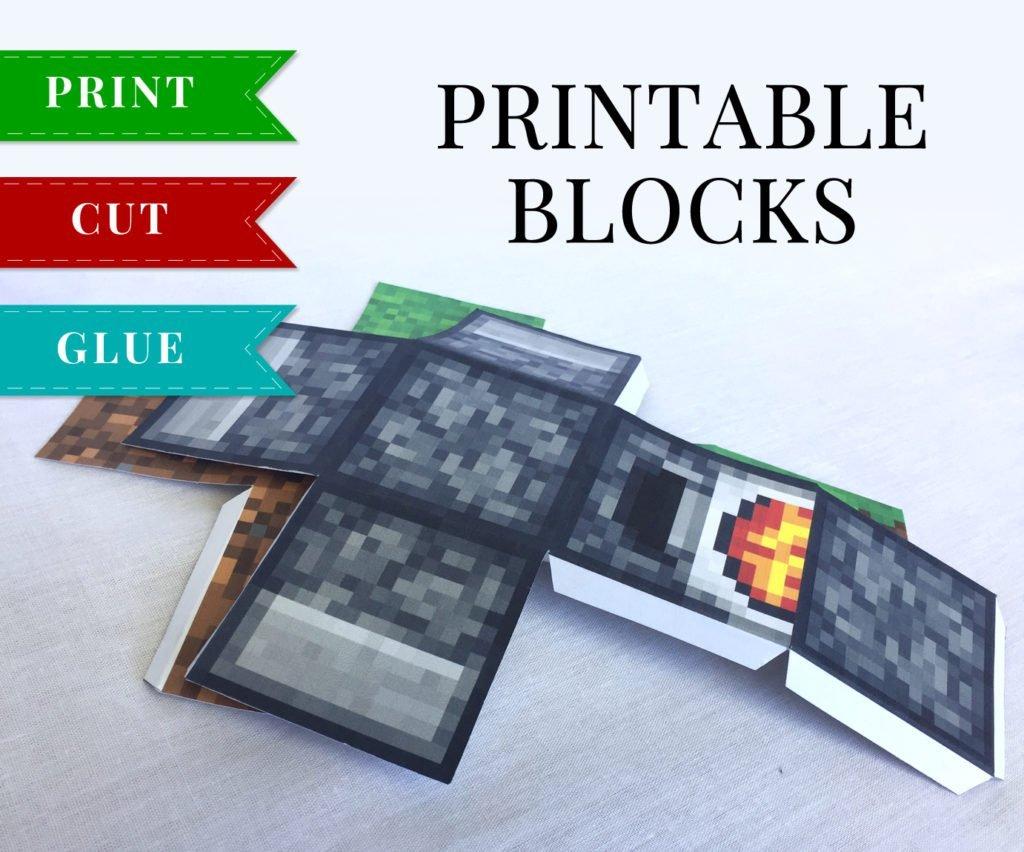 TNT - Printable Minecraft TNT Block Papercraft Template