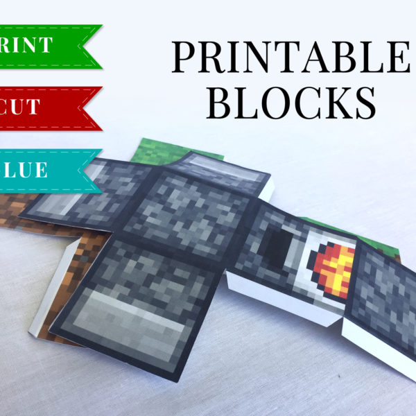 SET 1 - Minecraft Printable Papercraft Blocks