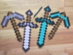 Printable Minecraft Pickaxes - 3D Printable