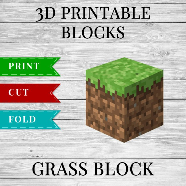 This is a graphic of Accomplished Minecraft Printable Blocks