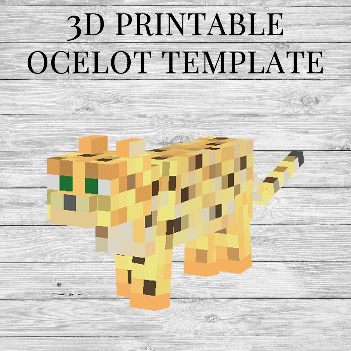 Printable Minecraft Ocelot Papercraft Template