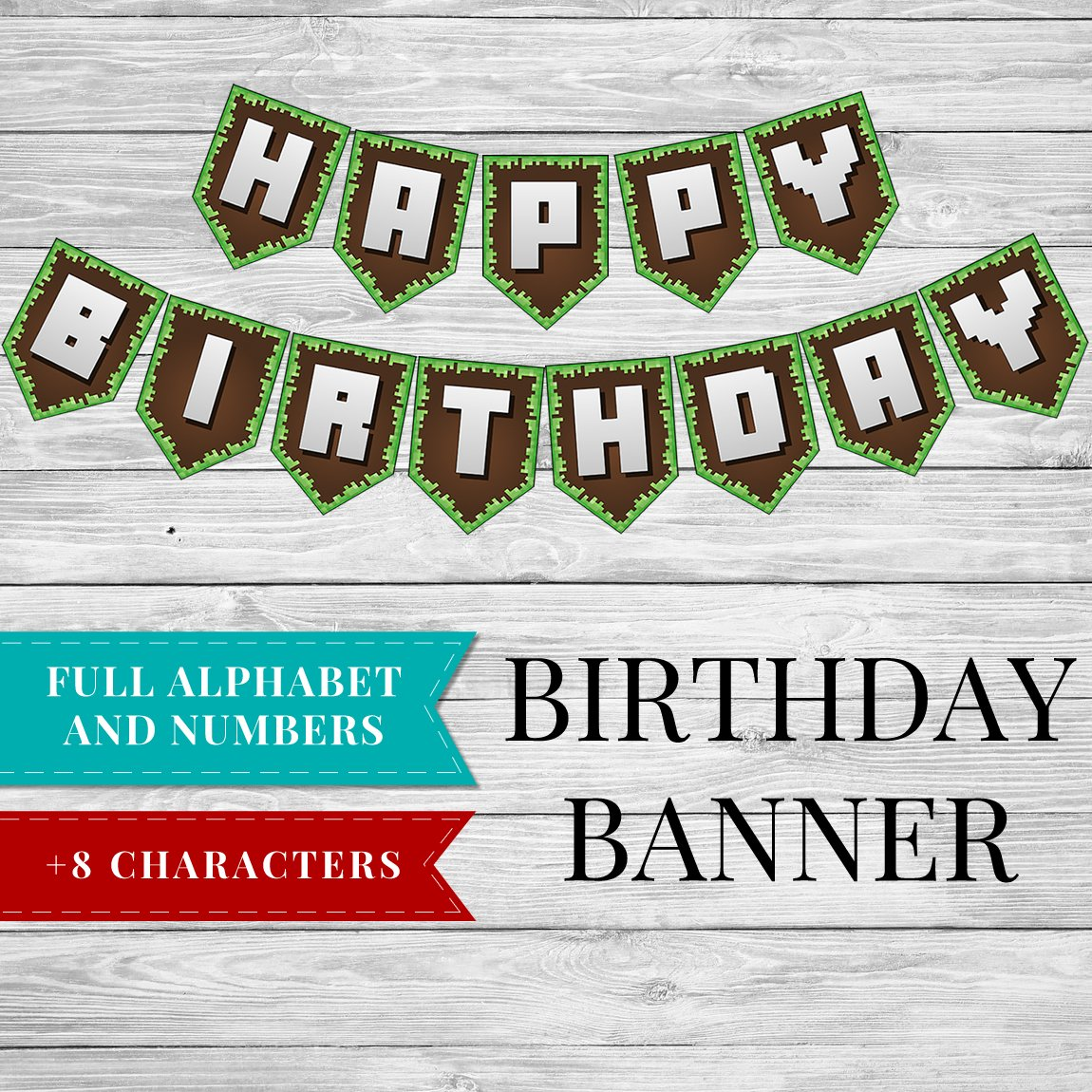 graphic regarding Minecraft Birthday Printable identify Minecraft Printable Birthday Occasion Banner