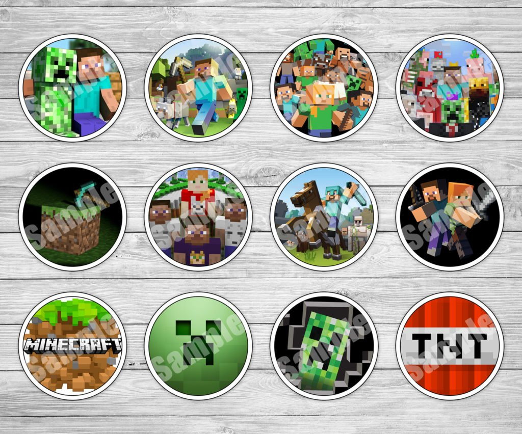 Massif image pertaining to printable minecraft cupcake toppers