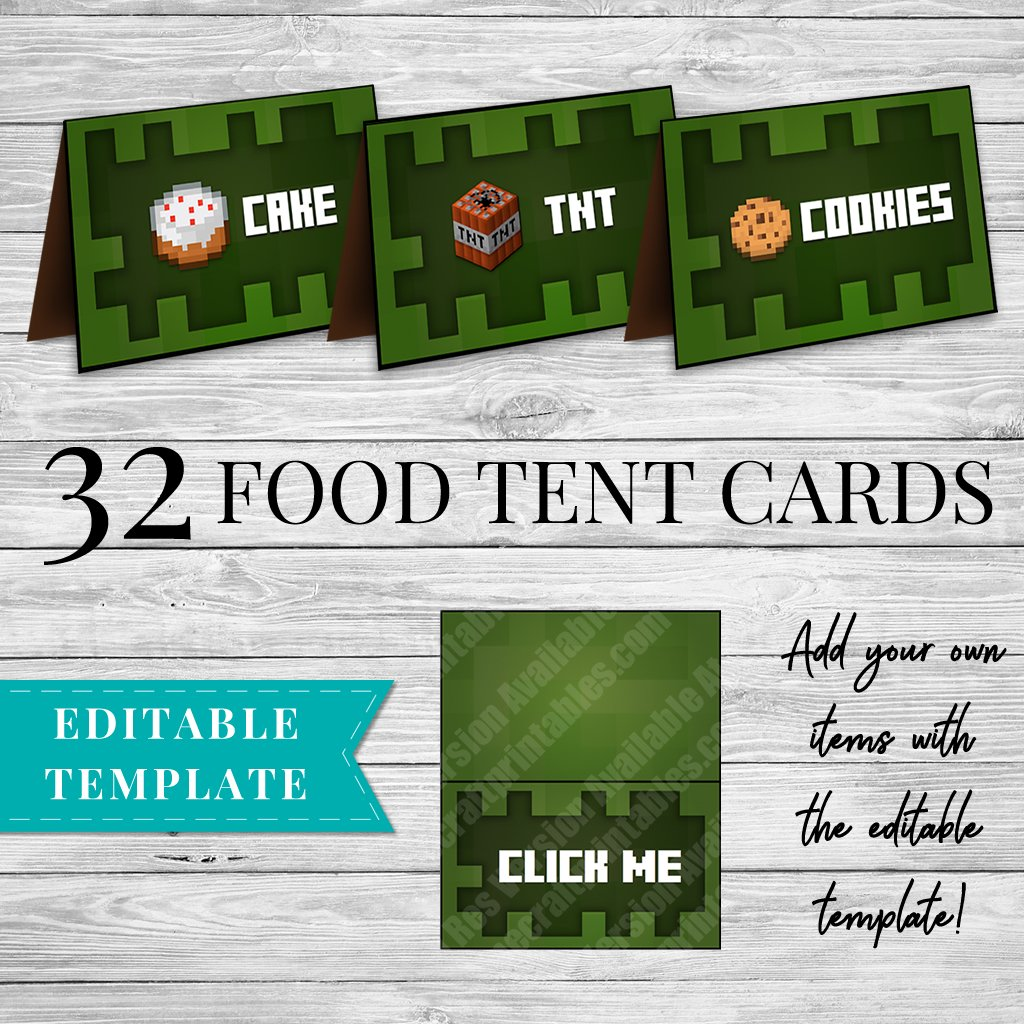 image relating to Minecraft Printable Creeper named 32 Minecraft Printable Meals Labels - Creeper concept